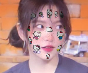 gg, kpop, and hello kitty filter image