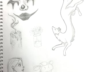 drawings, pencil, and sketches image