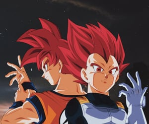 anime, red, and goku image