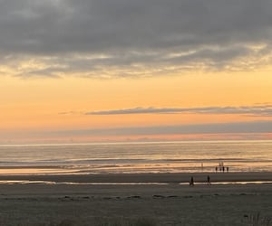 evening, summer, and sand beach image