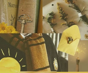aesthetic, yellow, and harry potter image