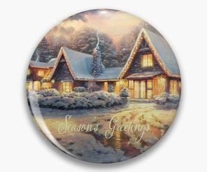 season's greetings and card pin image