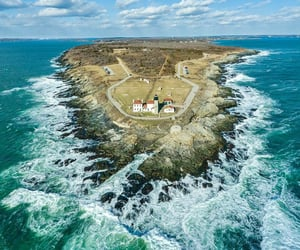 aerial photography, Island, and travel image