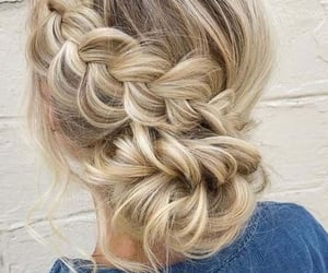 braids, hair, and hair style image