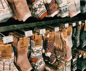 winter, socks, and autumn image