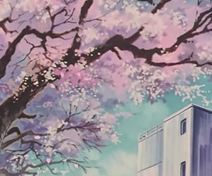 90s, cherry blossom, and japan image