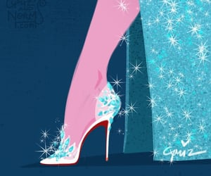 frozen, shoes, and elsa image