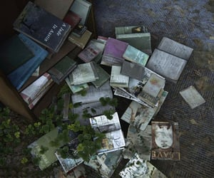 abandoned, books, and dystopian image