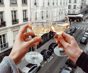 wine, drink, and couple image