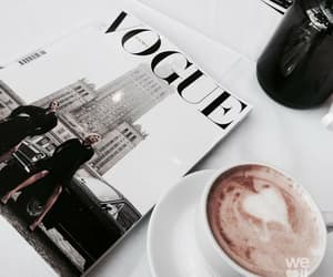 vogue, coffee, and magazine image