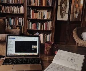 desk, study, and university image