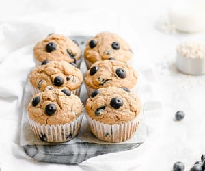 blueberry, cupcakes, and delicious image
