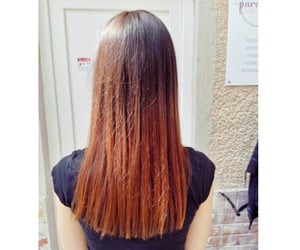 hair, ombre hair, and ombre image