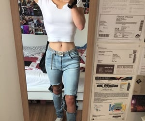 boyfriend jeans, fashion, and jeans image