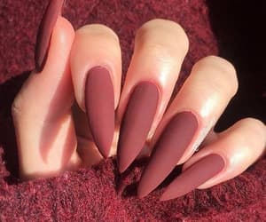 nails, love, and girl image