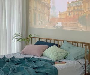 aesthetic, bedroom, and pastel image