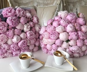 flowers, roses, and peonies image