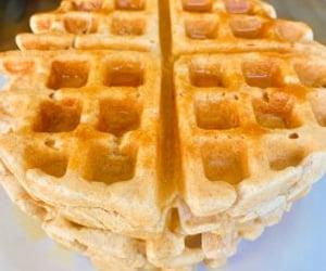 breakfast, waffles, and belgium waffles image