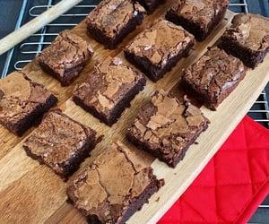 baking, brownies, and cake image