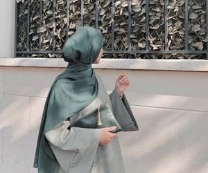 fashion, green, and hijab image
