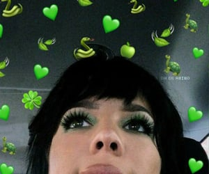 green, green theme, and reaction pics image