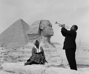 louis armstrong, egypt, and jazz image