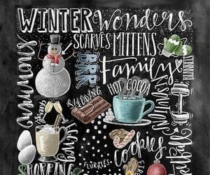 chalkboard, winter decor, and christmas image