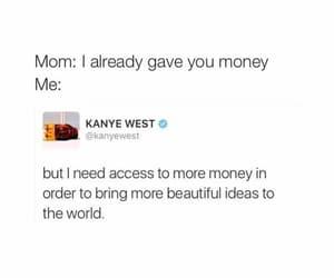 money, funny, and kanye west image