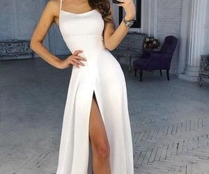 dress, girl, and gowns image