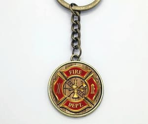 firefighter and keychain image