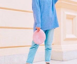 Bleu, hijab, and pink image
