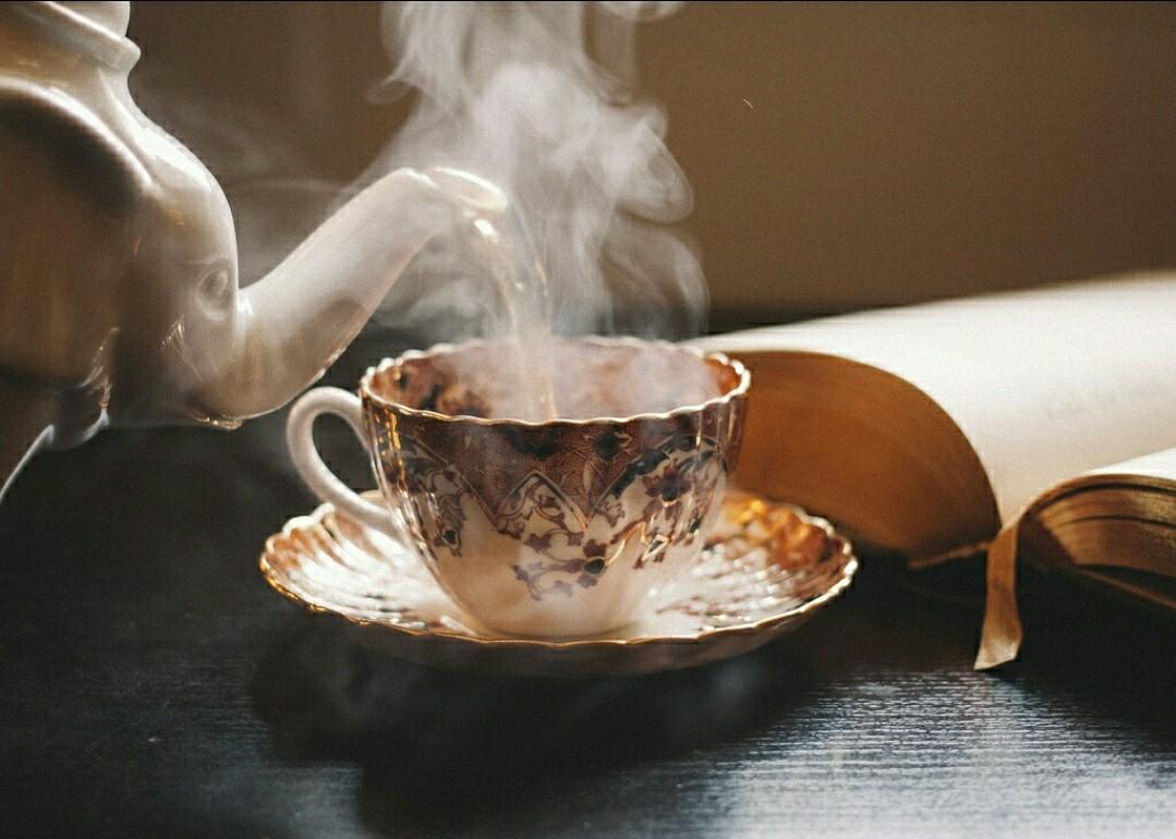 tea, coffee, and vintage image