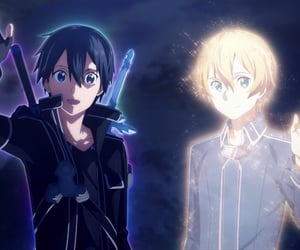 anime, cry, and sword art online image
