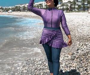 modest swimwear, burkini swimming suits, and hijabi swim-wear image
