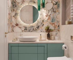 bathroom, decorations, and homedream image