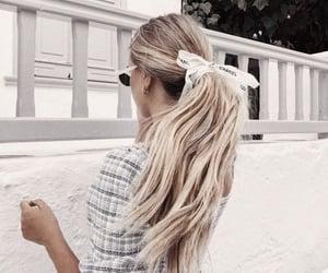 blond hair, hair, and hair style image