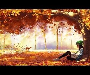 aesthetic, autumn, and dog image