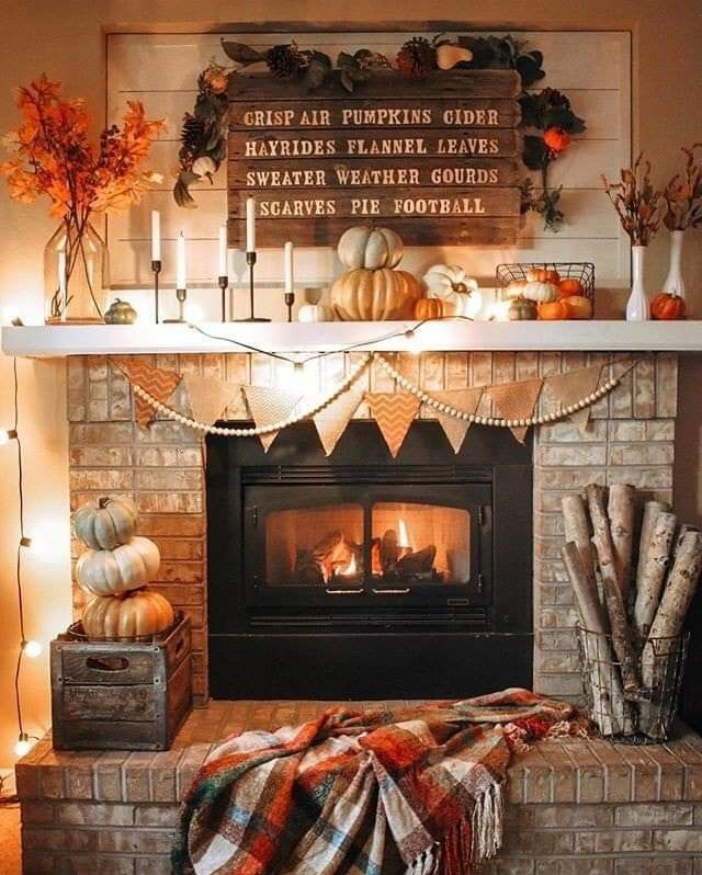 autumn, cozy, and decoration image