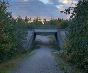 bridge, clouds, and hike image