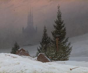 winter, art, and painting image