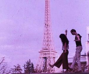 paris, couple, and eiffel tower image