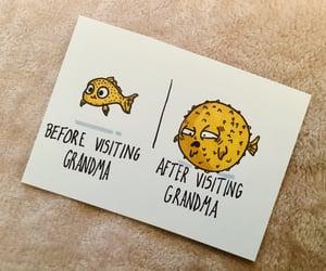 drawing, fish, and funny image