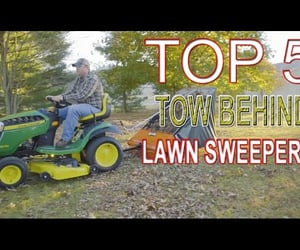 video, lawn sweeper, and tow behind lawn sweepers image