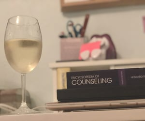 studying, white wine, and studyblr image