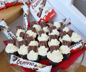 chocolate, kinder, and cupcake image