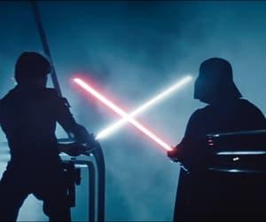 darth vader, film, and luke skywalker image