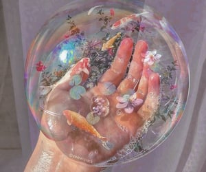 aesthetic, bubbles, and flowers image