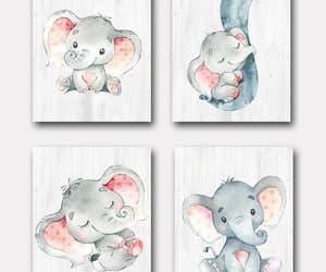 etsy, elephant print, and elephant art image