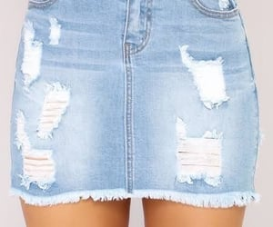 jean skirt and style image