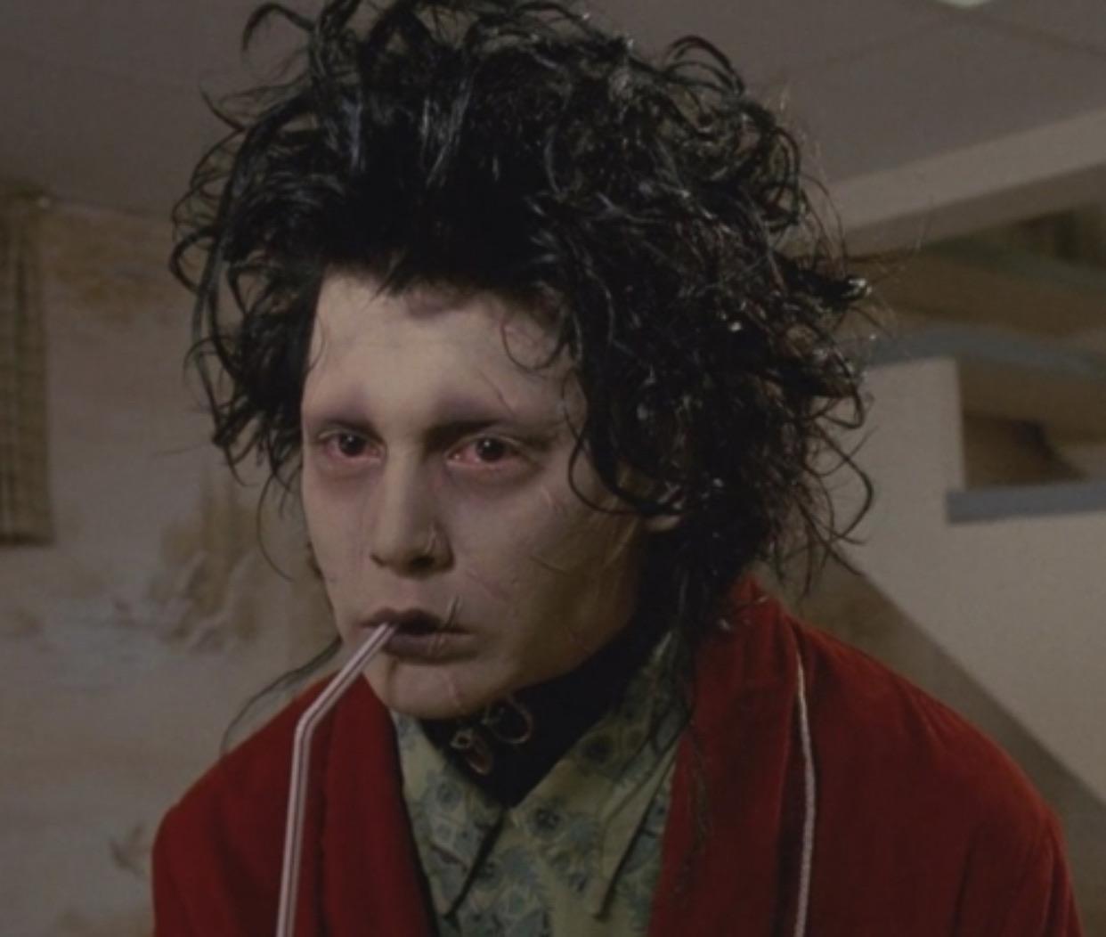 johnny depp, edward scissorhands, and movie image